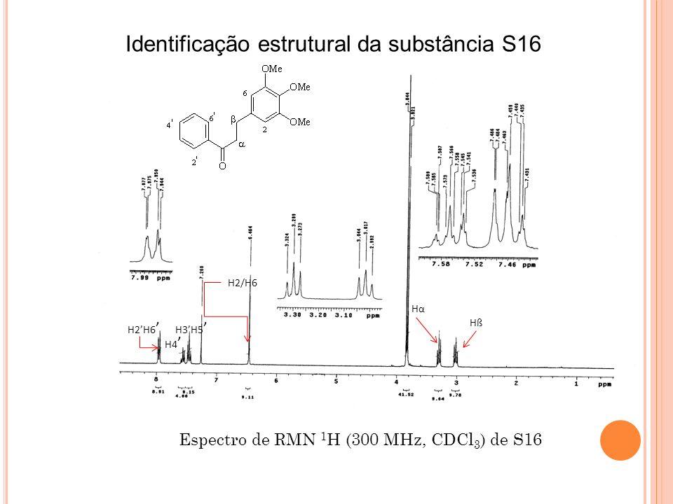 Identificação estrutural da substância S16