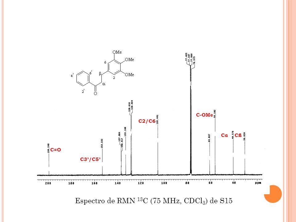 Espectro de RMN 13C (75 MHz, CDCl3) de S15