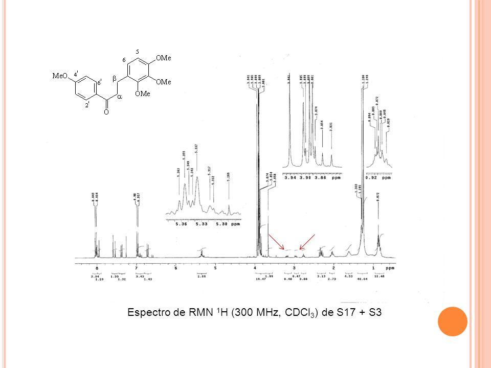 Espectro de RMN 1H (300 MHz, CDCl3) de S17 + S3