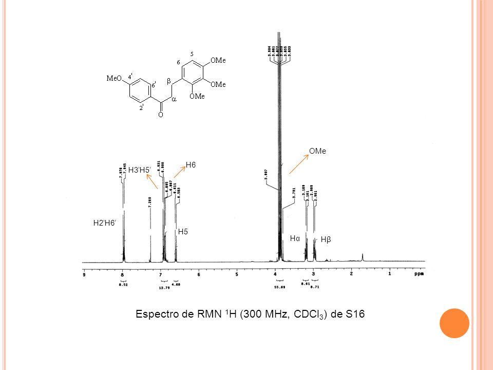 Espectro de RMN 1H (300 MHz, CDCl3) de S16