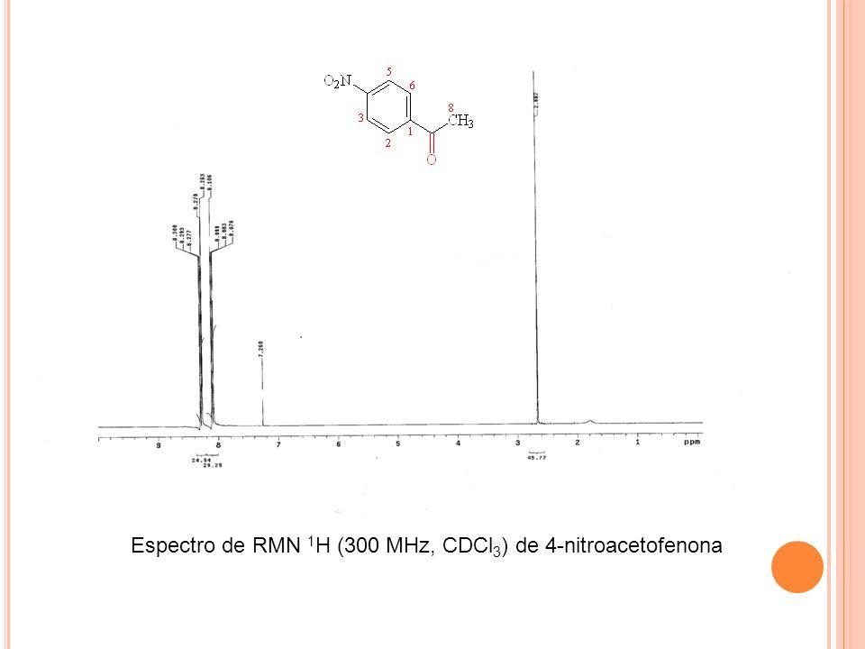 Espectro de RMN 1H (300 MHz, CDCl3) de 4-nitroacetofenona