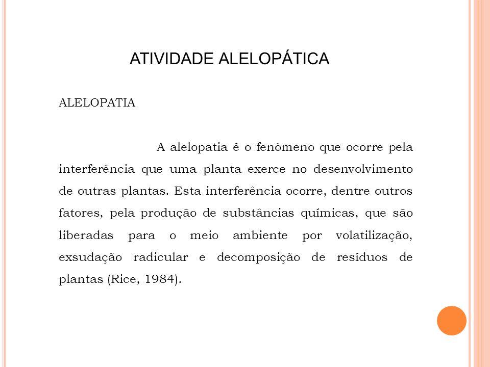 ATIVIDADE ALELOPÁTICA