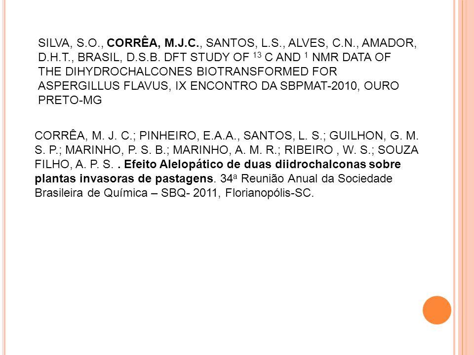 SILVA, S. O. , CORRÊA, M. J. C. , SANTOS, L. S. , ALVES, C. N