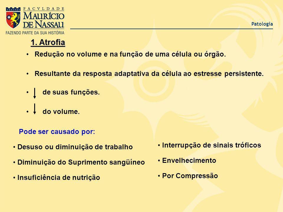 1. Atrofia Redução no volume e na função de uma célula ou órgão.