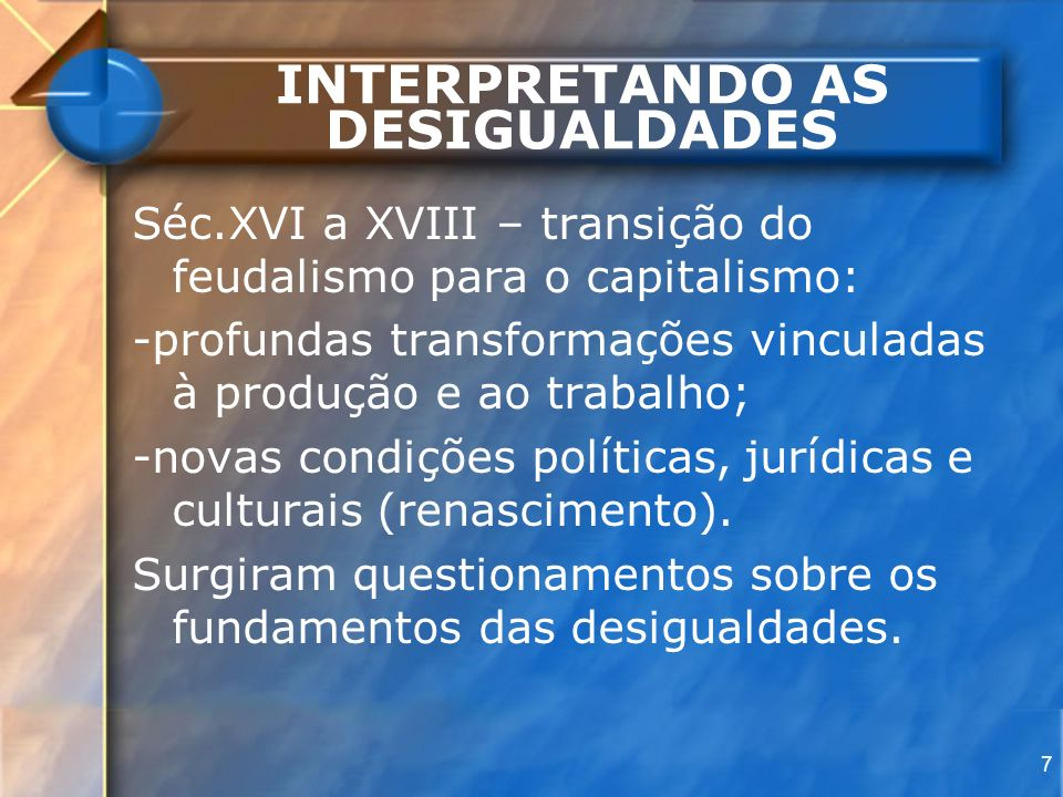 INTERPRETANDO AS DESIGUALDADES