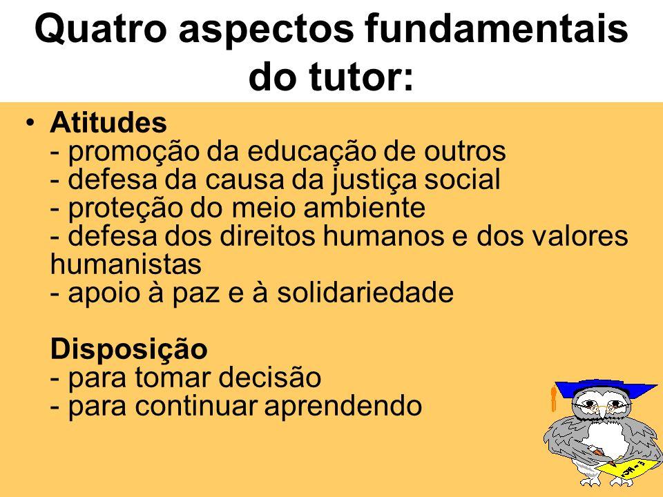Quatro aspectos fundamentais do tutor: