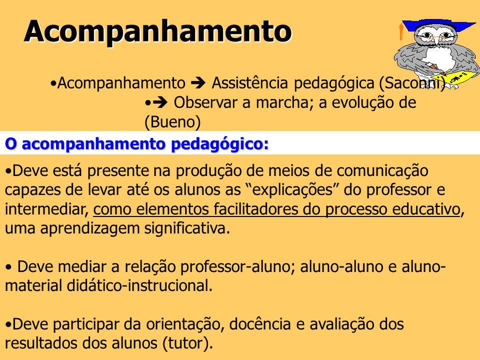 Acompanhamento Acompanhamento  Assistência pedagógica (Saconni)