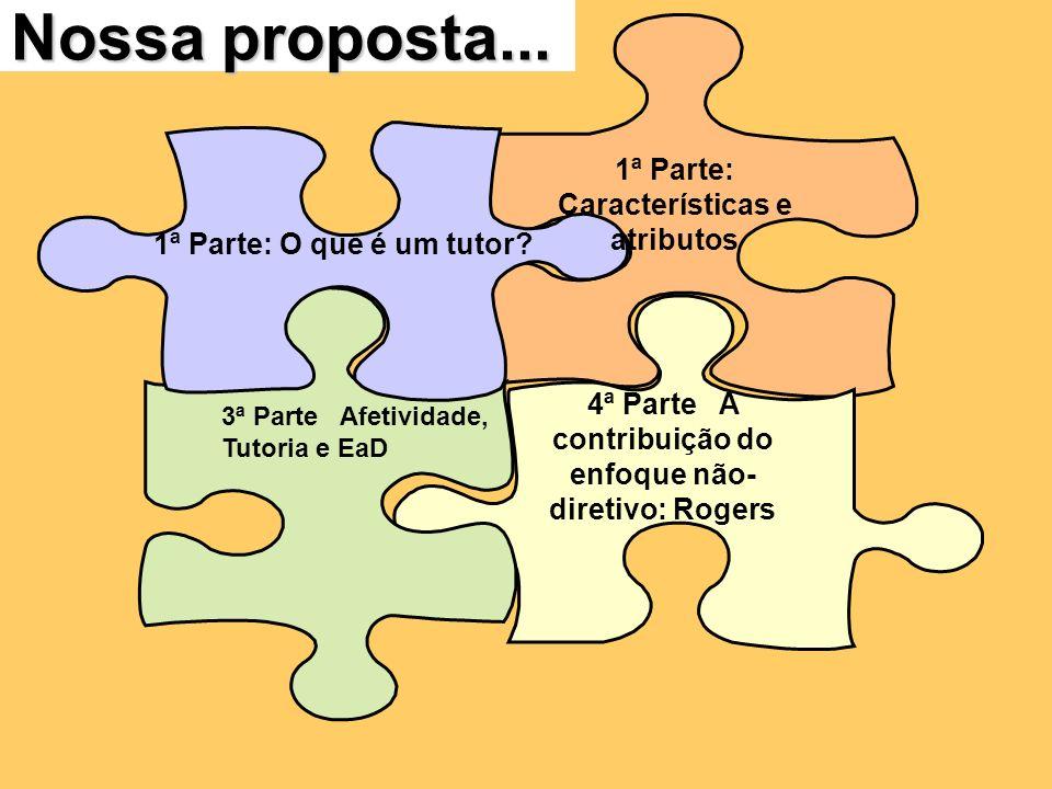 Nossa proposta... 1ª Parte: Características e atributos