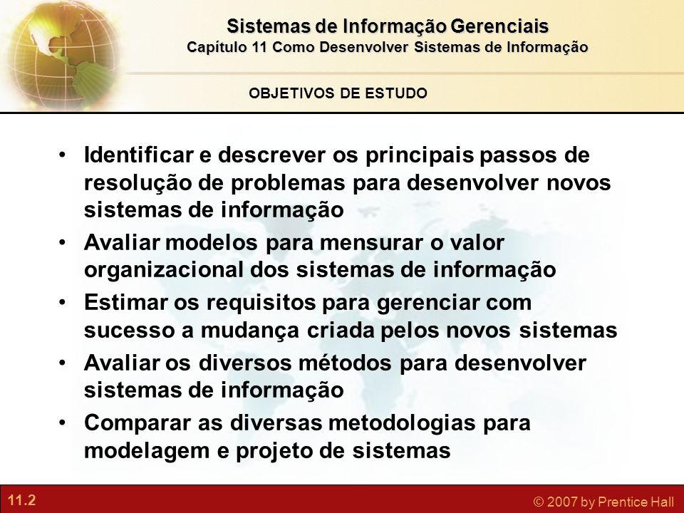 Avaliar os diversos métodos para desenvolver sistemas de informação