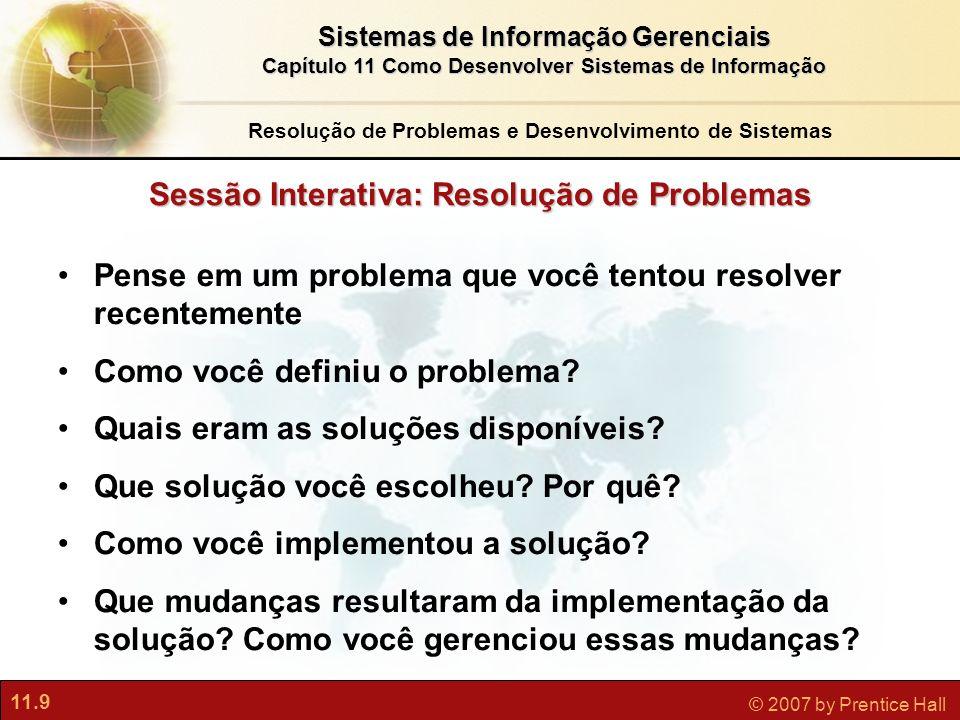 Sessão Interativa: Resolução de Problemas