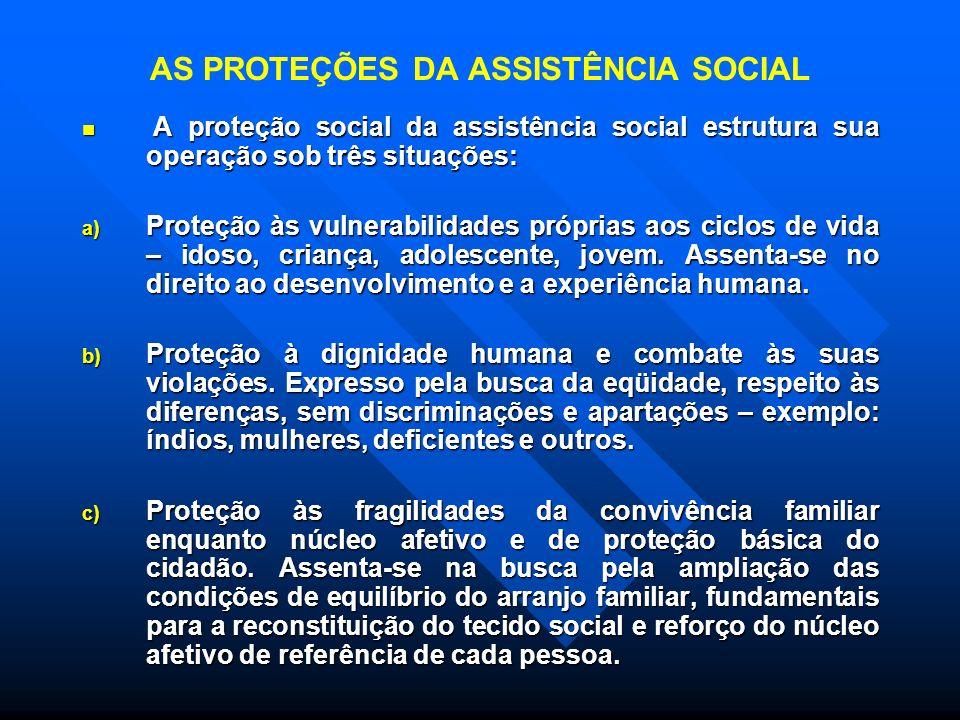 AS PROTEÇÕES DA ASSISTÊNCIA SOCIAL