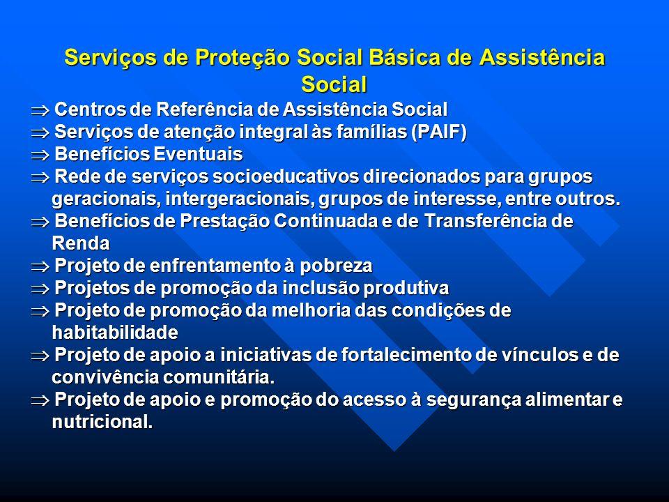 Serviços de Proteção Social Básica de Assistência Social