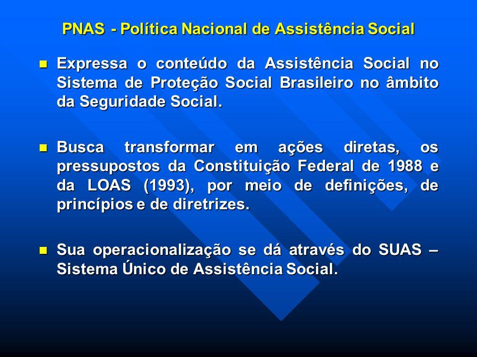 PNAS - Política Nacional de Assistência Social