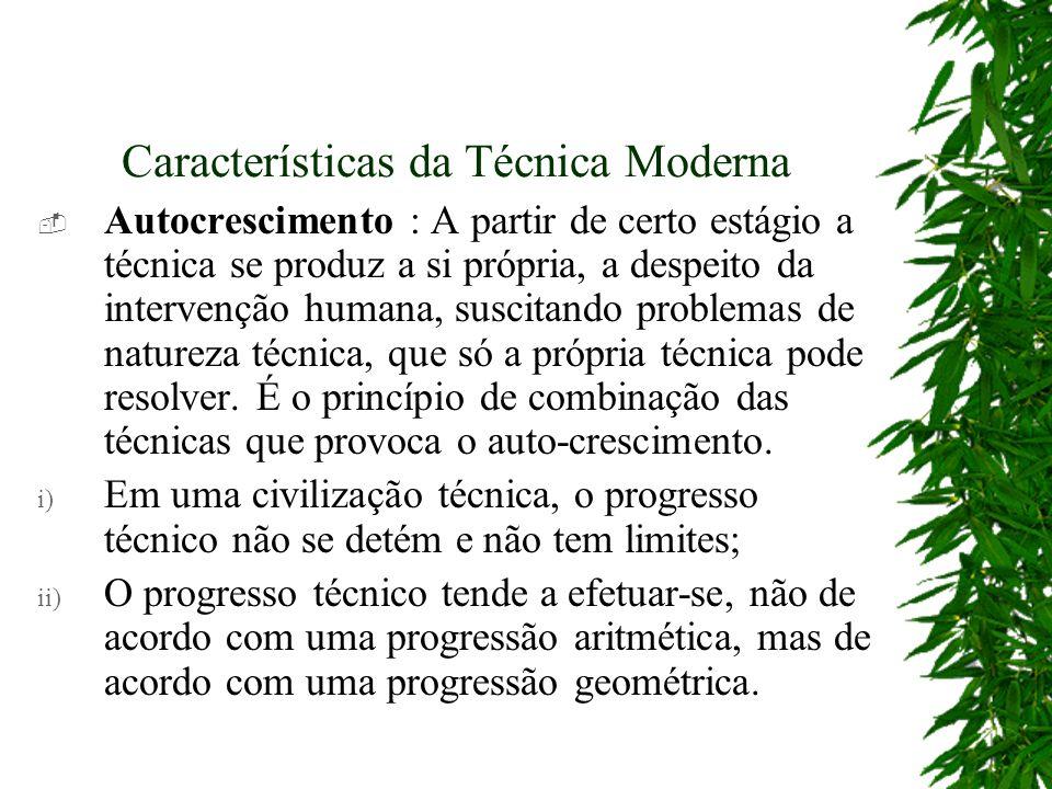 Características da Técnica Moderna