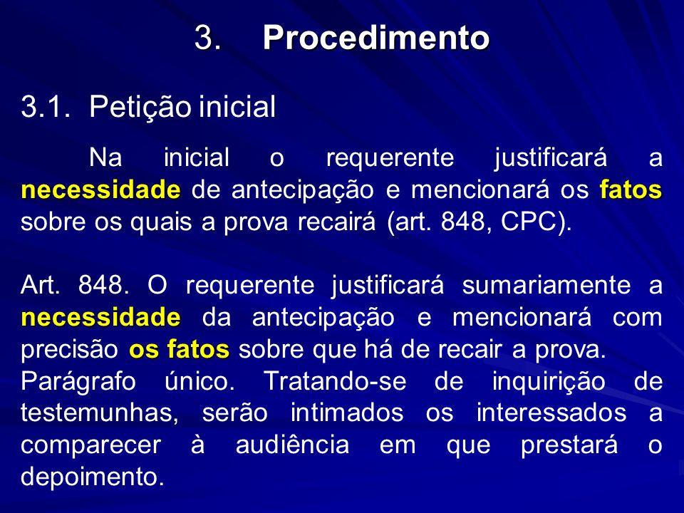 3. Procedimento 3.1. Petição inicial