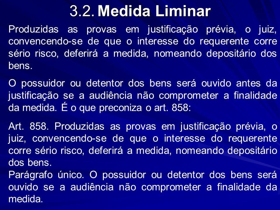3.2. Medida Liminar