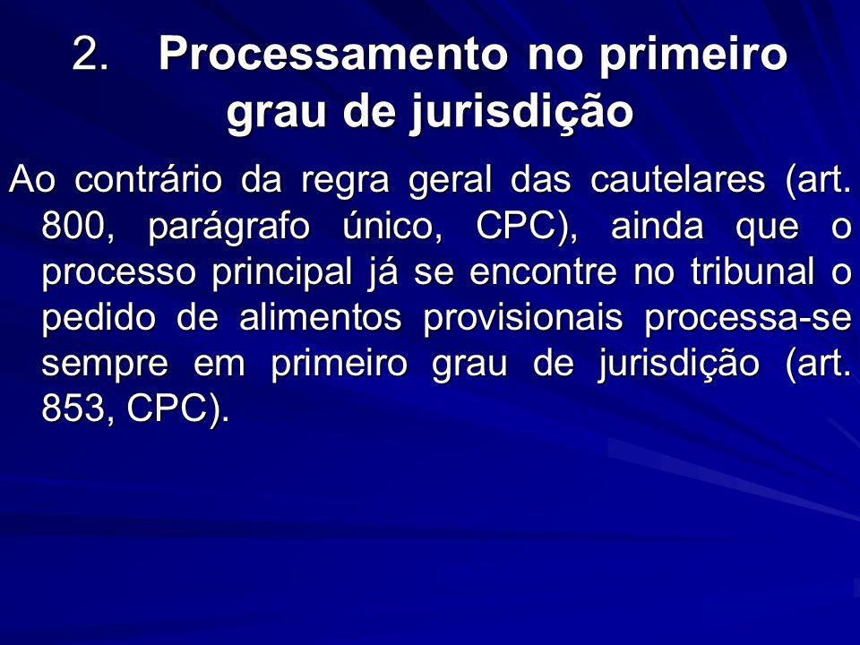 2. Processamento no primeiro grau de jurisdição