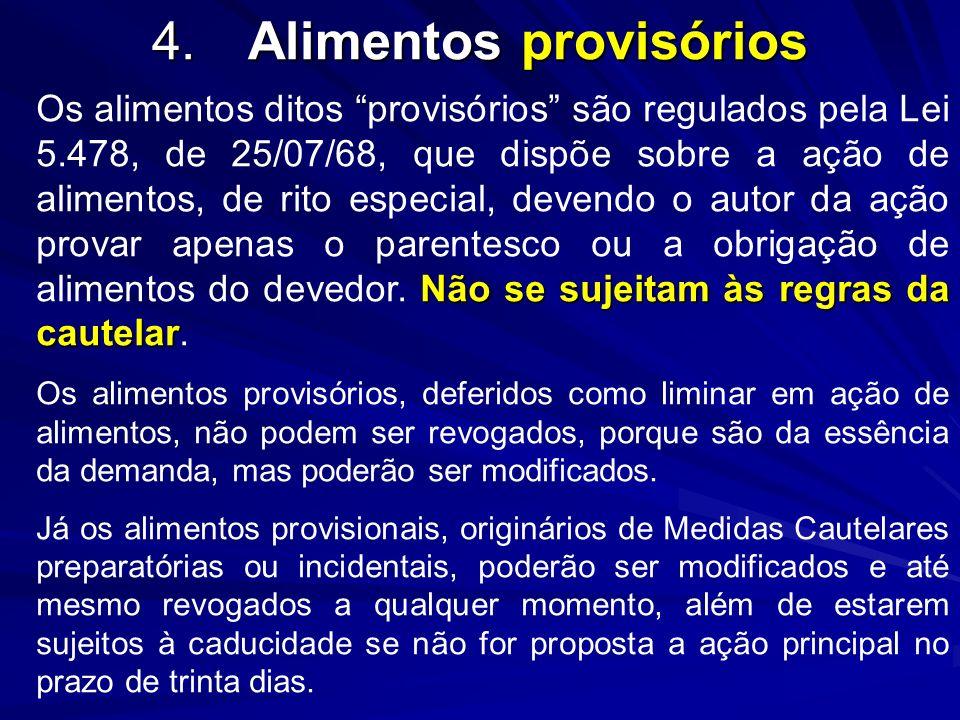 4. Alimentos provisórios