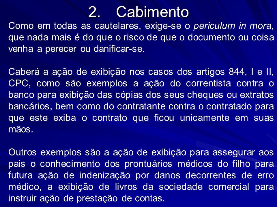 2. Cabimento