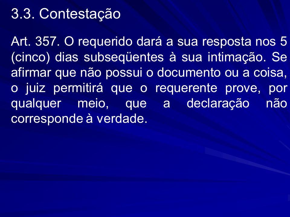 3.3. Contestação