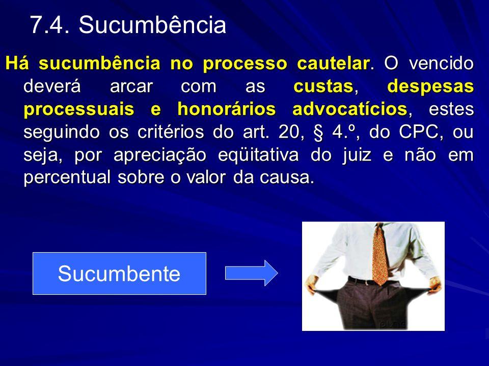 7.4. Sucumbência Sucumbente