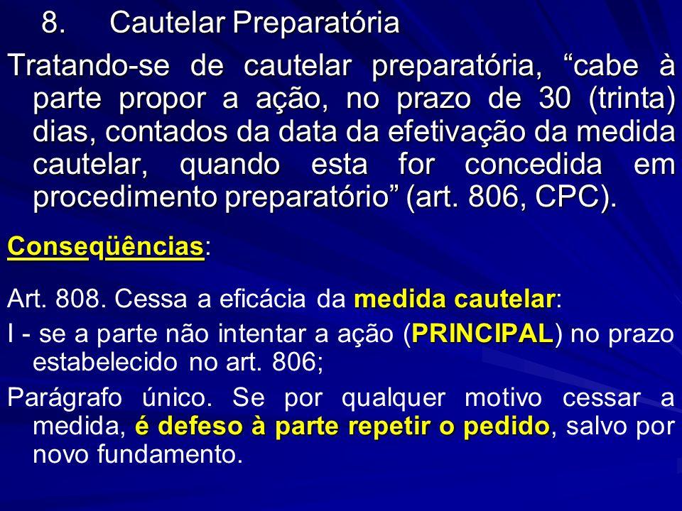 8. Cautelar Preparatória