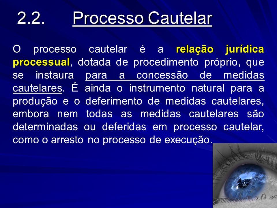 2.2. Processo Cautelar