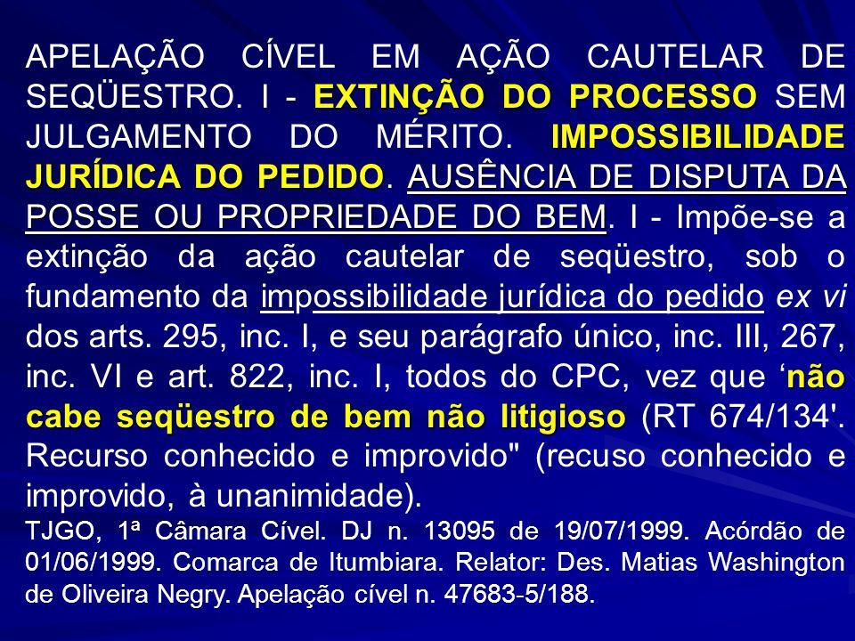 APELAÇÃO CÍVEL EM AÇÃO CAUTELAR DE SEQÜESTRO