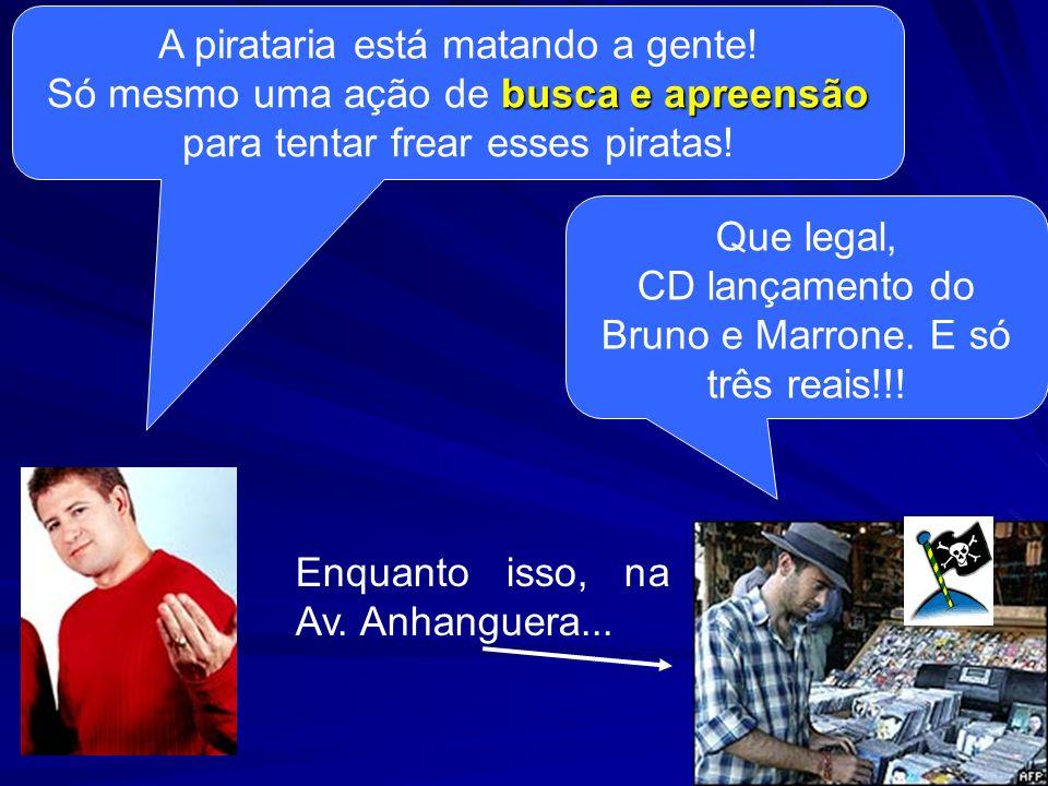 A pirataria está matando a gente!
