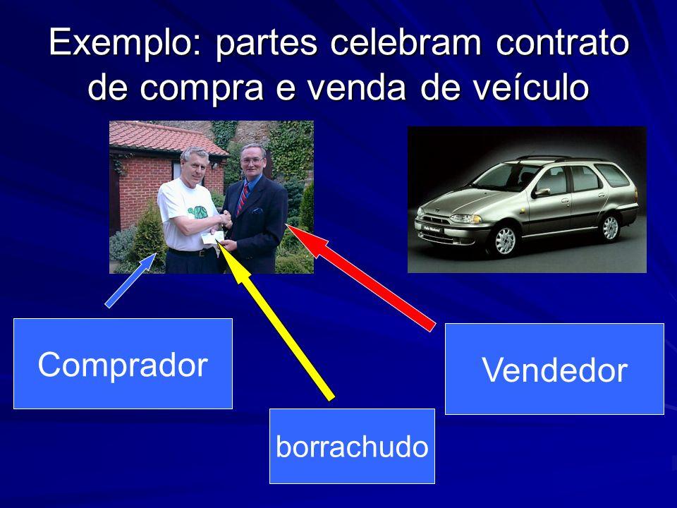 Exemplo: partes celebram contrato de compra e venda de veículo