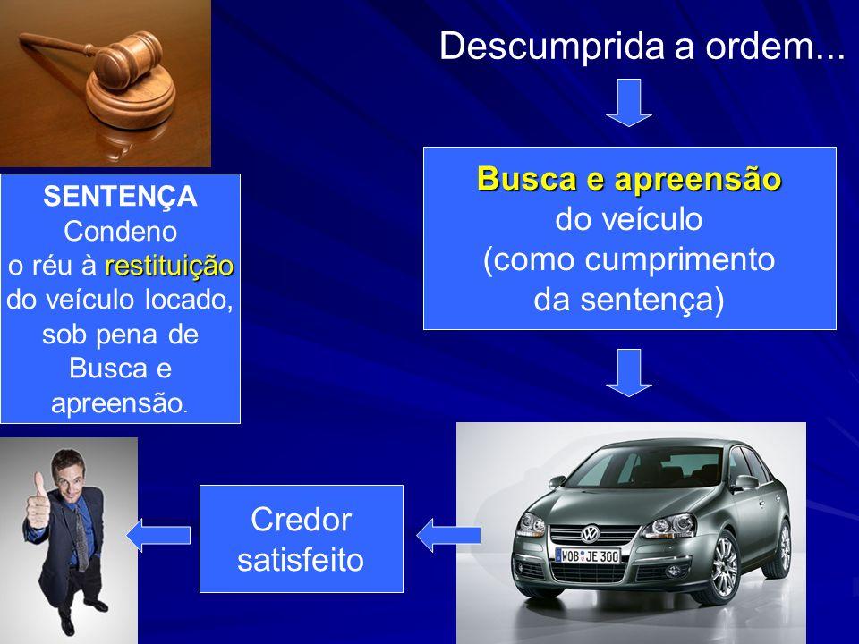 Descumprida a ordem... Busca e apreensão do veículo (como cumprimento