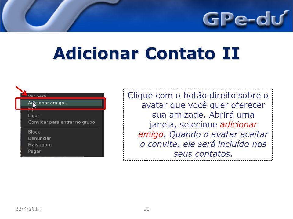 Adicionar Contato II