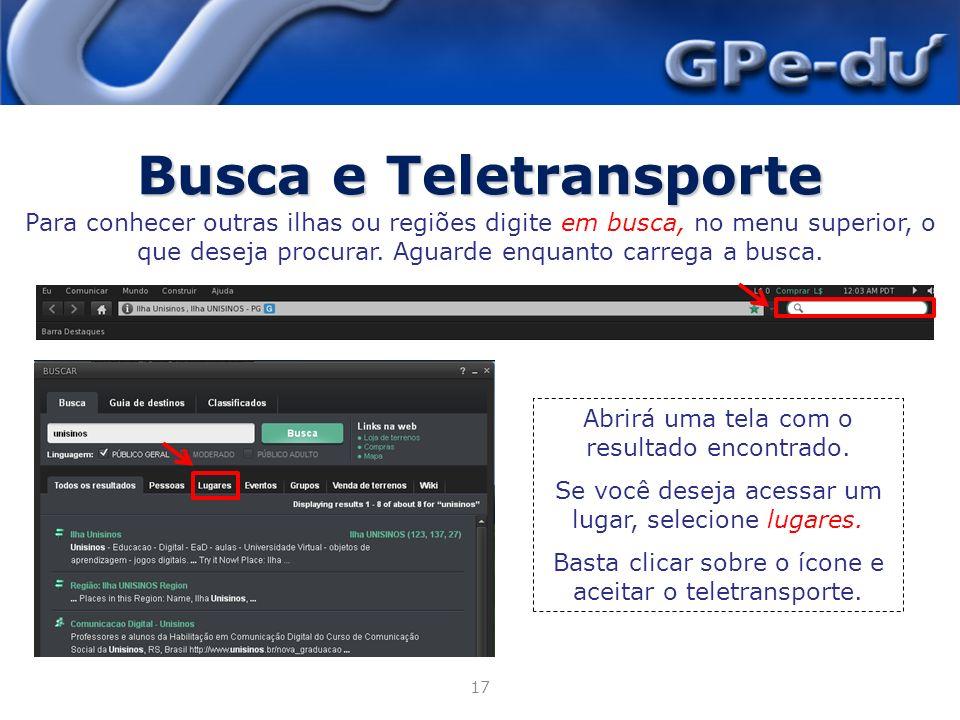 Busca e Teletransporte
