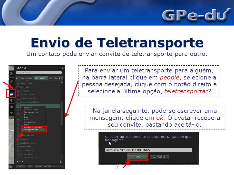 Envio de Teletransporte
