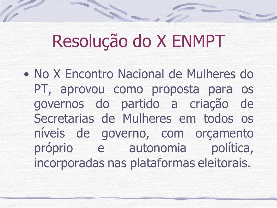 Resolução do X ENMPT