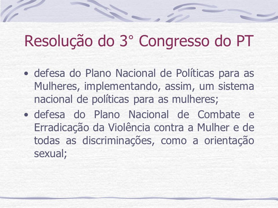 Resolução do 3° Congresso do PT