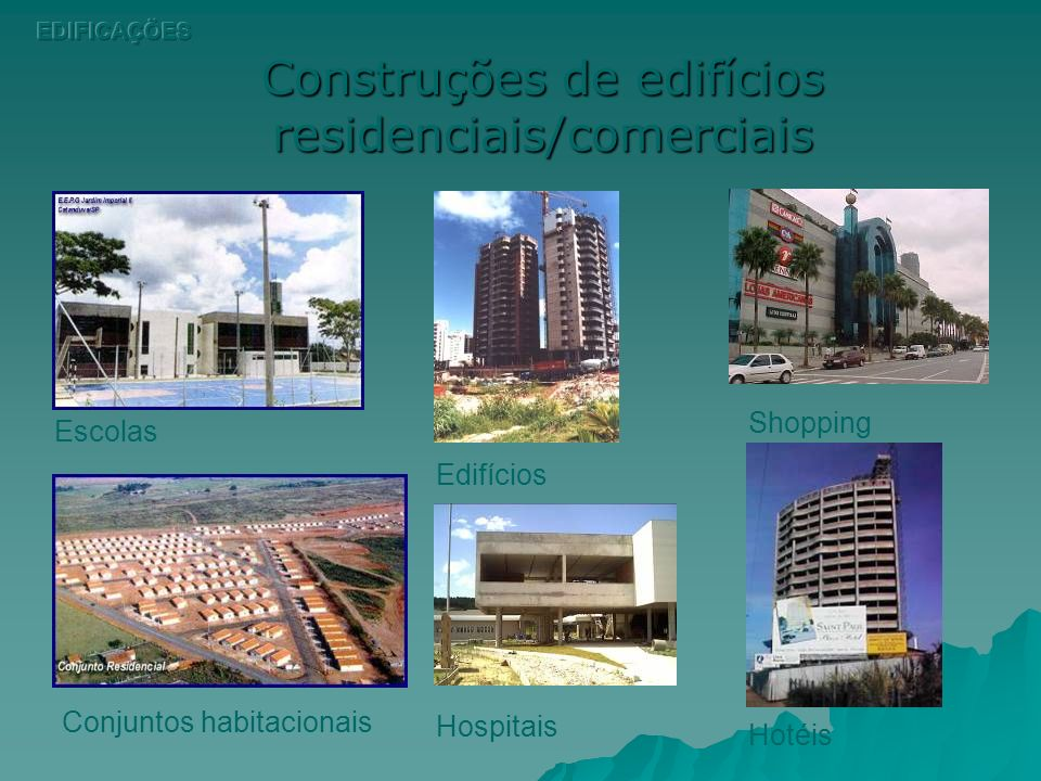 Construções de edifícios residenciais/comerciais