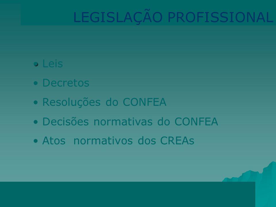 LEGISLAÇÃO PROFISSIONAL