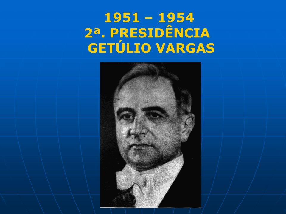 1951 – 1954 2ª. PRESIDÊNCIA GETÚLIO VARGAS