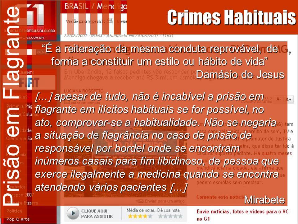 Prisão em Flagrante Crimes Habituais