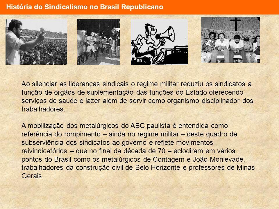 História do Sindicalismo no Brasil Republicano