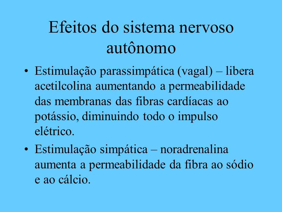 Efeitos do sistema nervoso autônomo
