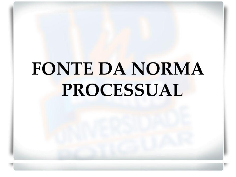FONTE DA NORMA PROCESSUAL