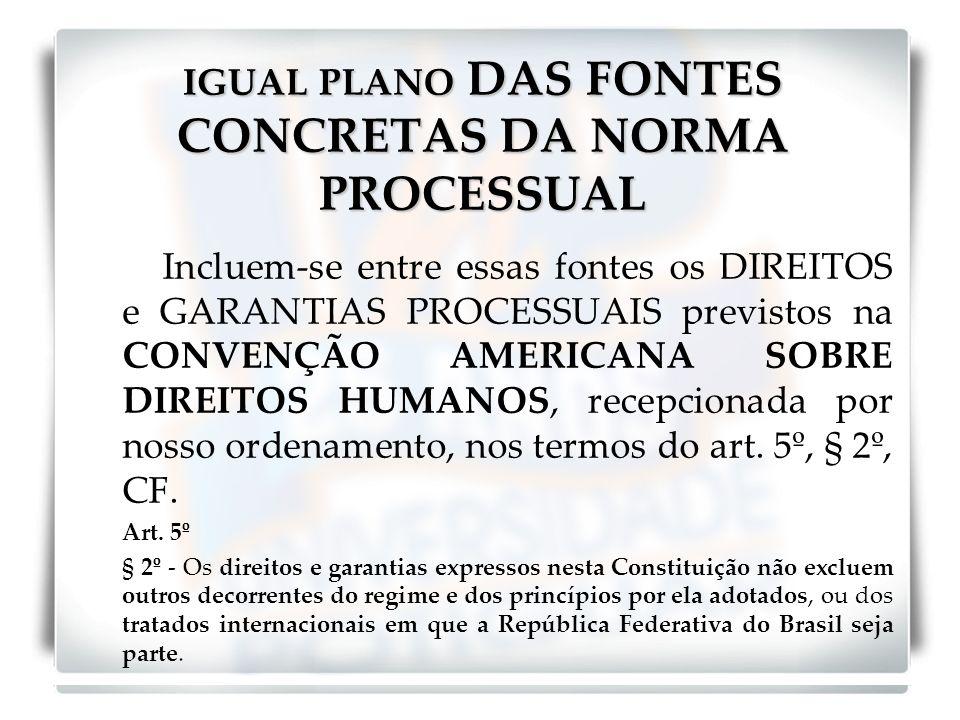 IGUAL PLANO DAS FONTES CONCRETAS DA NORMA PROCESSUAL