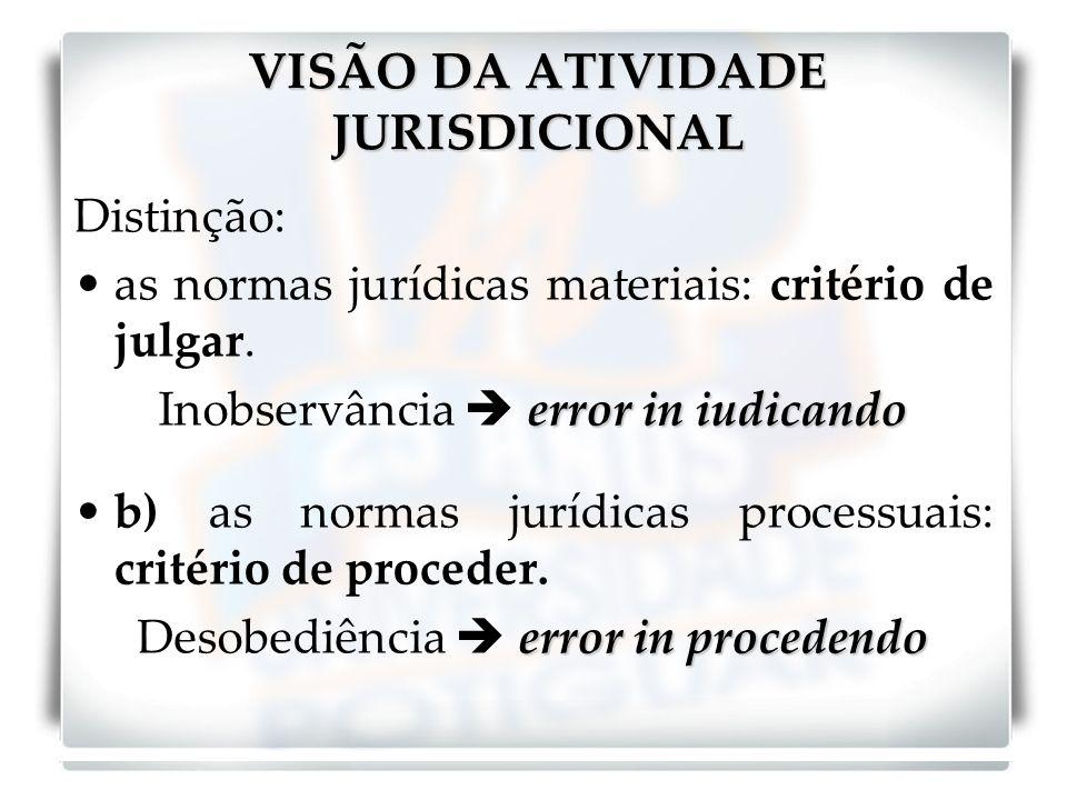 VISÃO DA ATIVIDADE JURISDICIONAL