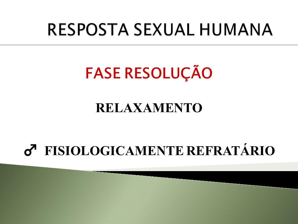 RESPOSTA SEXUAL HUMANA