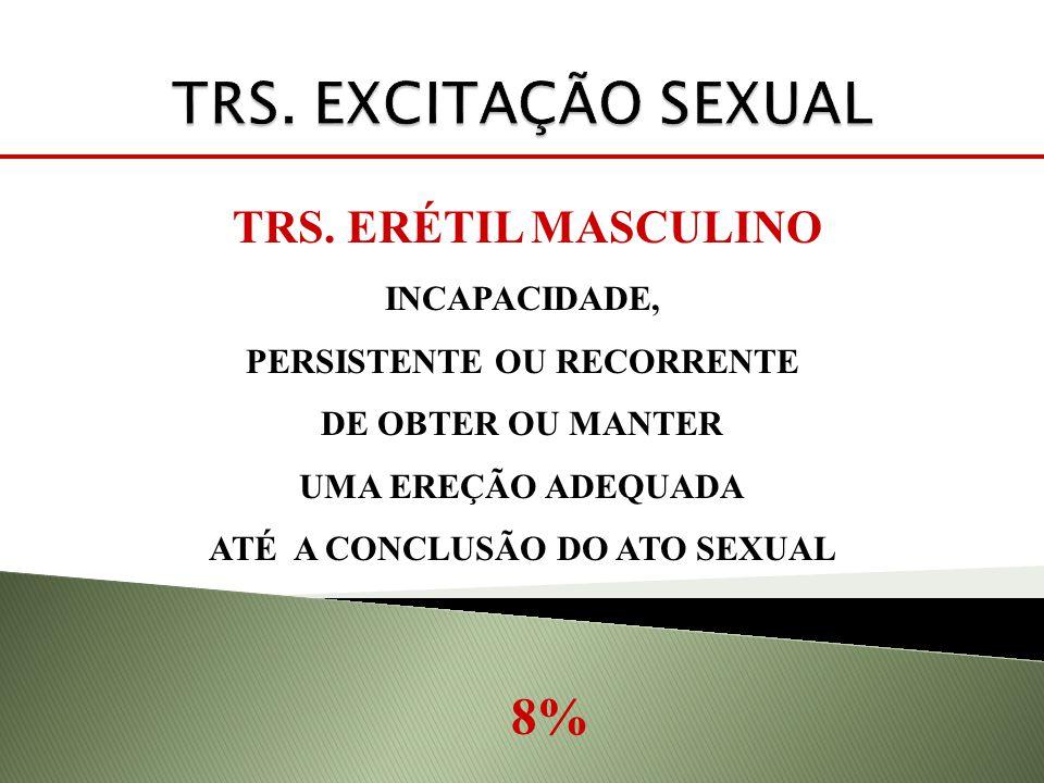 PERSISTENTE OU RECORRENTE ATÉ A CONCLUSÃO DO ATO SEXUAL
