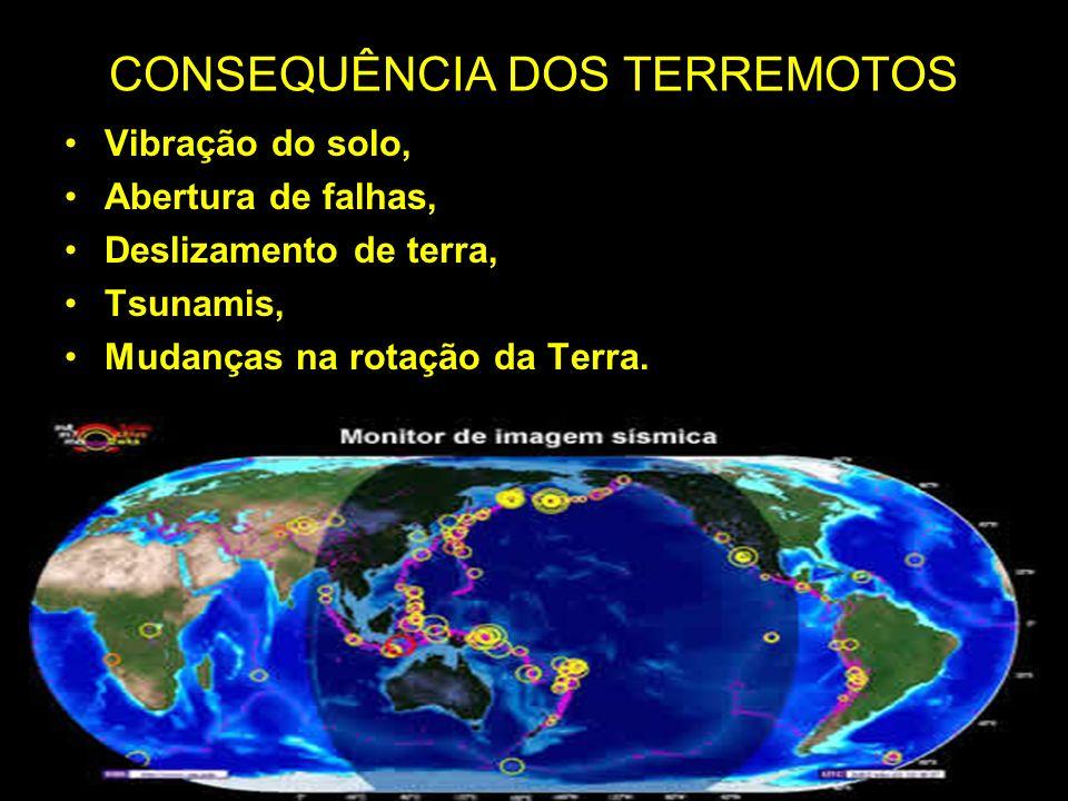 CONSEQUÊNCIA DOS TERREMOTOS