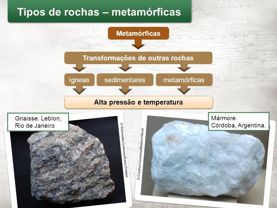 Tipos de rochas – metamórficas