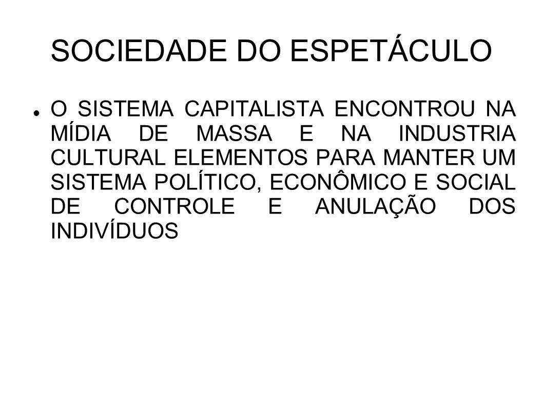 SOCIEDADE DO ESPETÁCULO